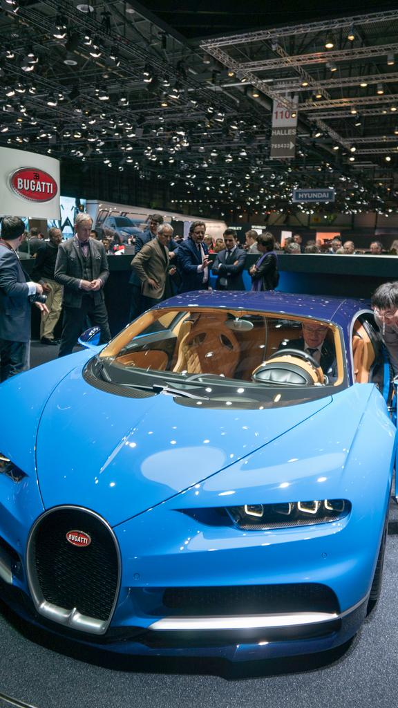 Light Blue Bugatti Chiron Phone Wallpaper