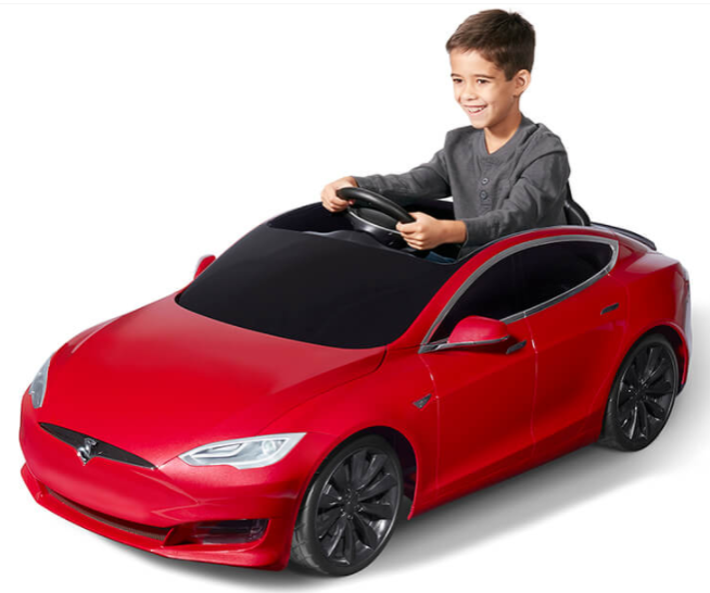 HD Image of a Red Tesla Model S