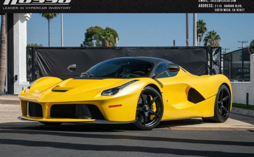 Photo of a Yellow Ferrari LaFerrari