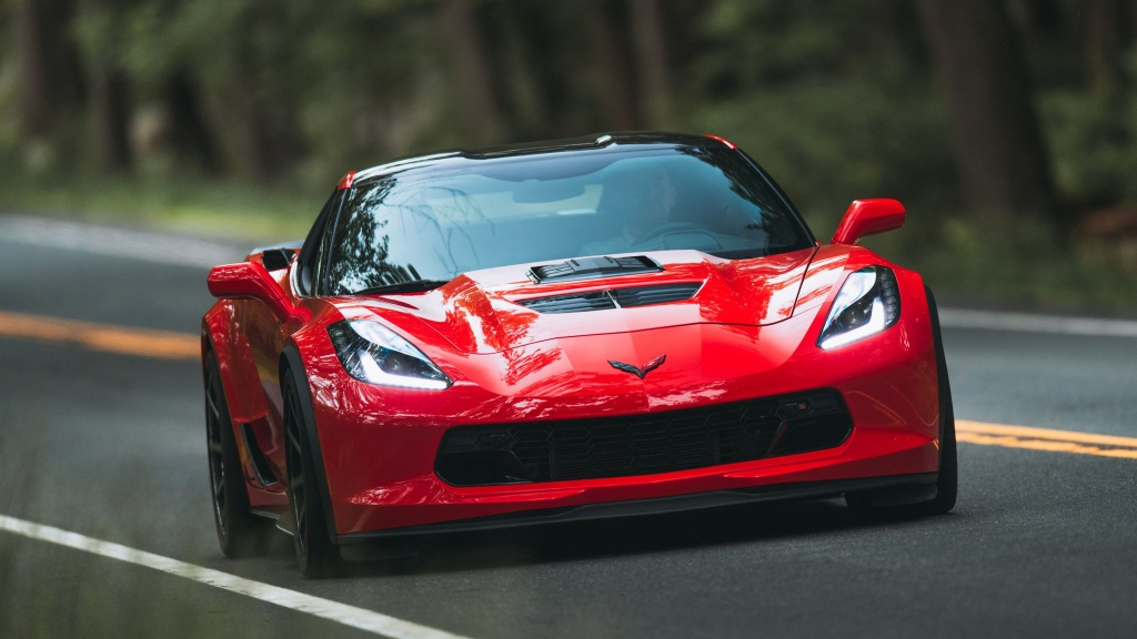 HD Image of the Front of a Corvette