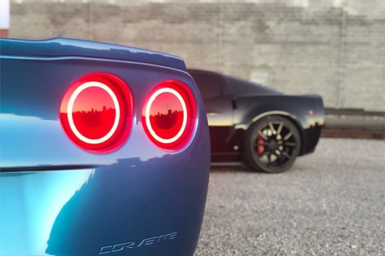 HD Image of Corvette Tail Lights