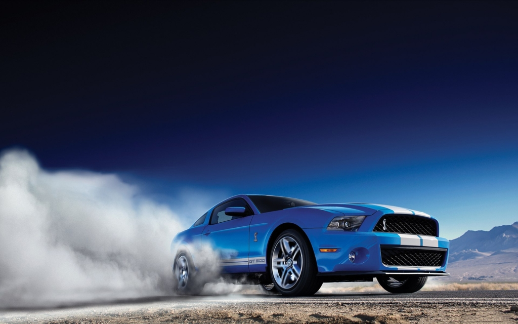 HD Image of Ford Mustang Burnout