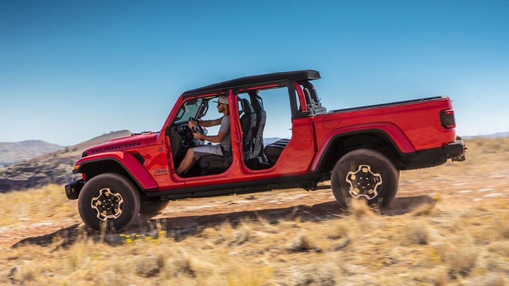 HD Image of Doorless Jeep Gladiator
