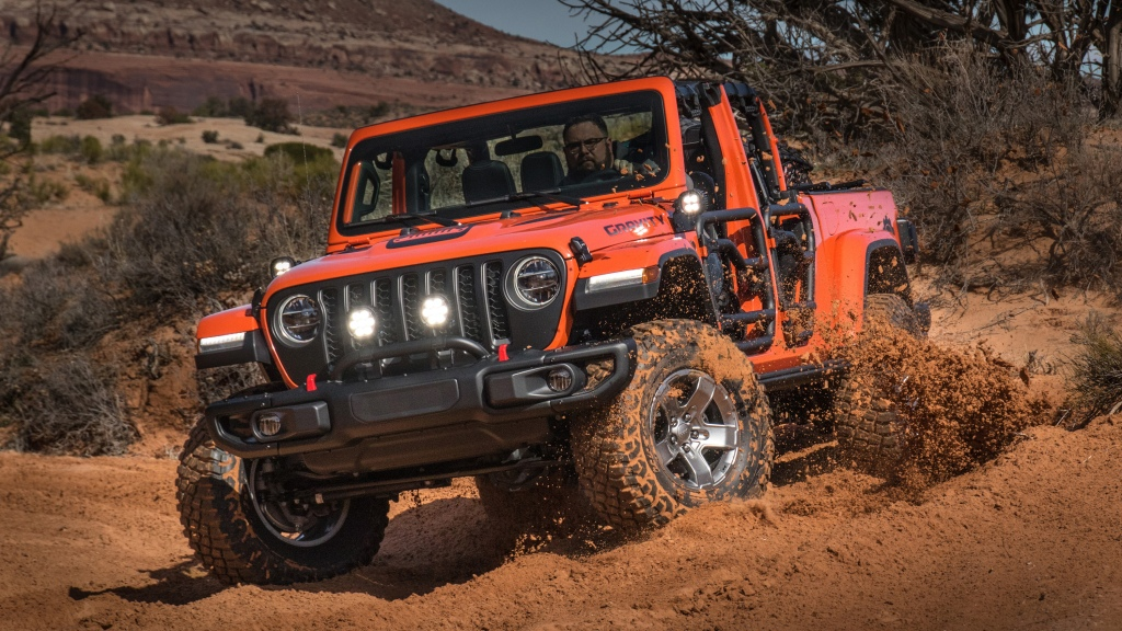 HD Image of Orange Jeep Gladiator