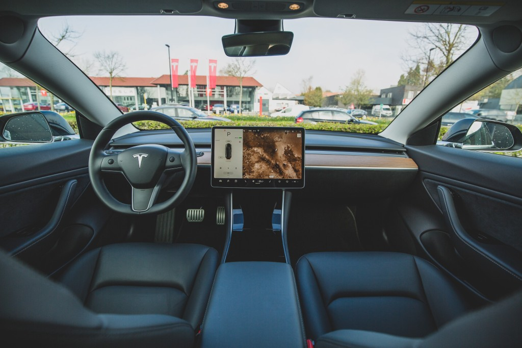 To show what interior of Tesla Model 3 looks like.