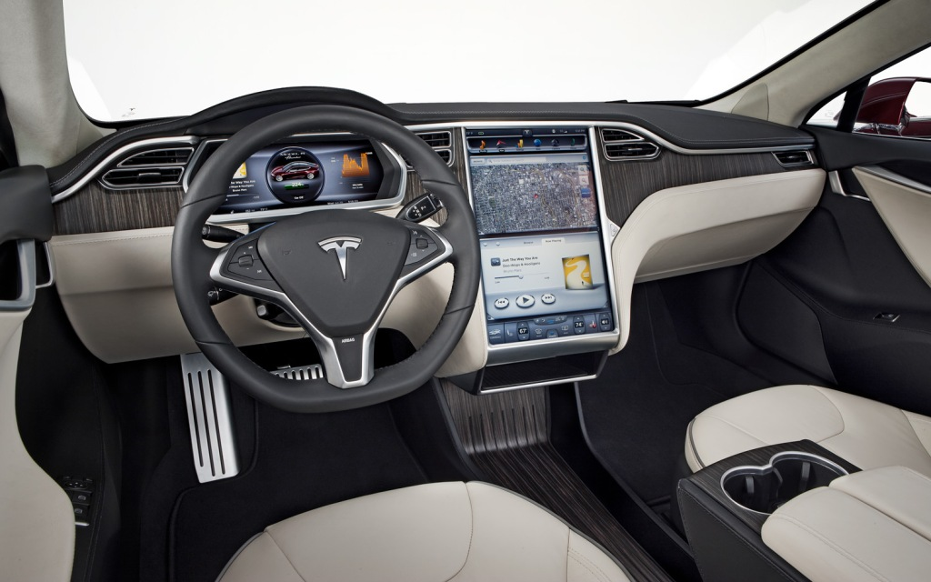 Photo of a Tesla Model S Interior