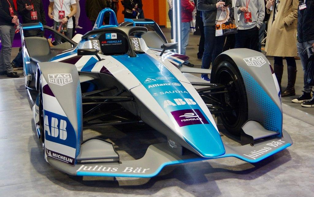 Spark Formula E Blue Racecar